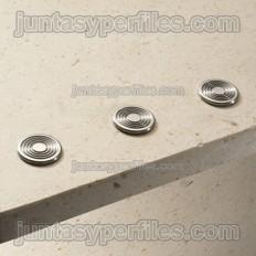 Stairtec SWR - Botó podotàctil d'acer inoxidable extraplà