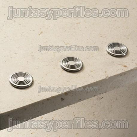 Botón podotáctil de acero inoxidable extraplano Stairtec SWR