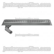 Kit de canais de chuveiro, rack de aço inoxidável e acessórios - Tomada lateral