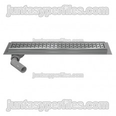 Shower channel kit, stainless rack and accessories - Side outlet