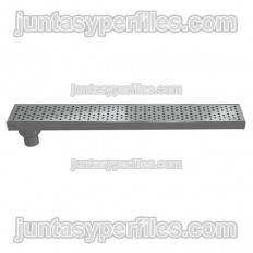 Grondaia e griglia inox uscita laterale verticale 90 mm con sifone per piatti doccia da lavoro