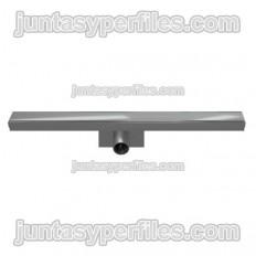 Calha e grelha de aço inoxidável Saída horizontal central de 50 mm com sifão para base de chuveiro