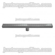 Calha e saída vertical central de grade de aço inoxidável de 50 mm sem sifão para bandejas de chuveiro de trabalho