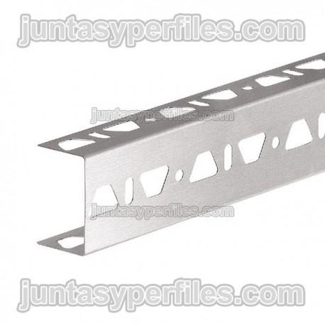 KERDI-BOARD-ZB - Perfil  de acero inoxidable en forma de U con triple perforación