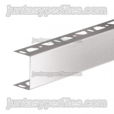 KERDI-BOARD-ZA - U-shaped stainless steel profile with double perforation