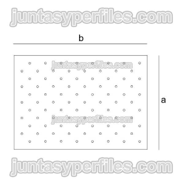 Plantilla para botones podotáctiles para pavimento podotáctil de acero