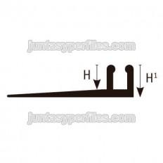 Multicurve CBD - Perfil base para cantoneras transición y rampa de resina deformable