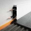DESIGNBASE-CQ - Perfil rodapié de aluminio con canaleta pasacables