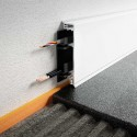 DESIGNBASE-CQ - Aluminum skirting profile with cable gutter