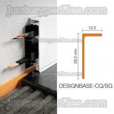DESIGNBASE-CQ/SG - Perfil separador para rodapié pasacables