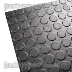 Pavimento de caucho con círculos antideslizante
