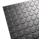 Rubber flooring with non-slip circles