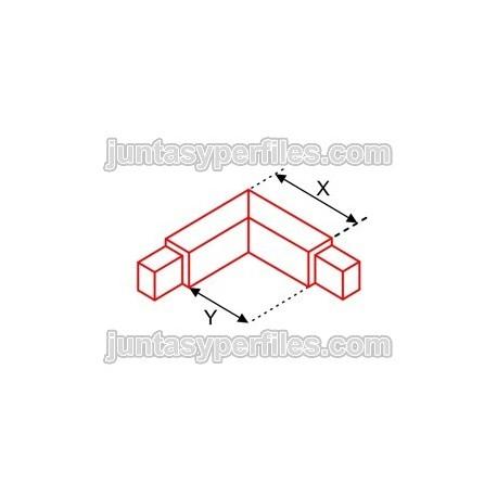 Novolistel 3 Inox esquinero interior - Cantoneras de aluminio
