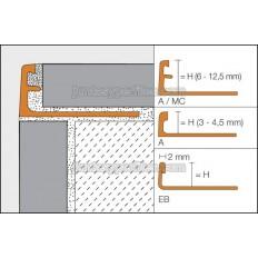 JOLLY - Cantoneras de aluminio o latón decorativas