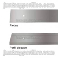 Galvanized profile for fixing waterproofing sheet