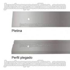 Pletina galvanizada para fijación de lámina impermeabilizante
