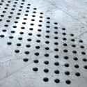 Black lacquered aluminum overlay tactile stud without adhesive