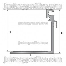 TTM1 suport - Junt de dilatació estructural d'alumini