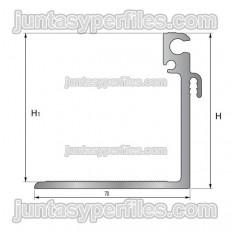 Suporte TTM1 - Junta de dilatação estrutural de alumínio