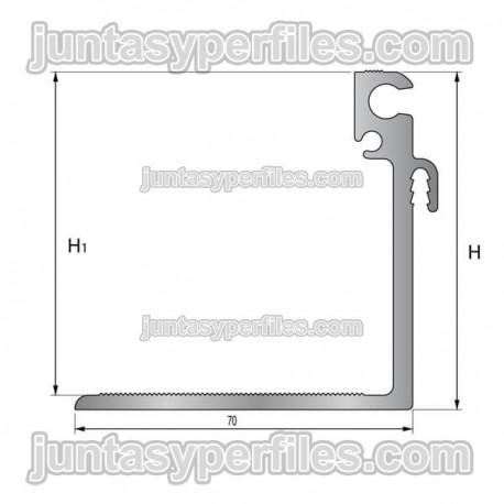 TTM1 soporte -  Junta de dilatación estructural de aluminio