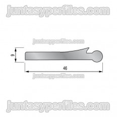TTM1 aleta macho - Junta de dilatación estructural de aluminio
