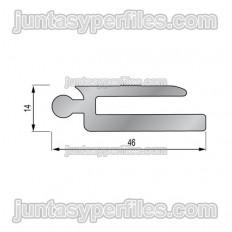 TTM1 aleta hembra -  Junta de dilatación estructural de aluminio