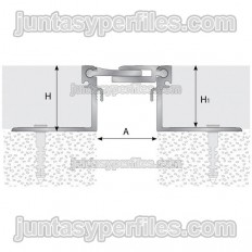 TTM1 - Aluminum structural expansion joint H 30 mm