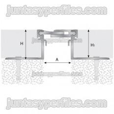 TTM1 - Junt de dilatació estructural d'alumini H 30 mm