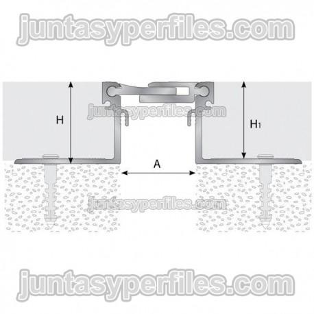 TTM1 - Junta de dilatación estructural de aluminio