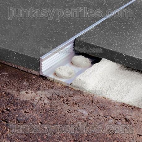 Novosuelo / Novopared - Perfil de aluminio de remate
