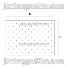 Recessed touch button placement template