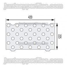 Plantilla colocación botón podotáctil con adhesivo