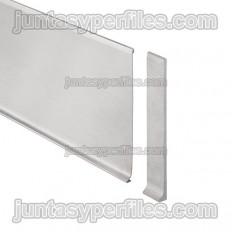 DESIGNBASE-SL-E - Bouchon droit pour plinthe en inox