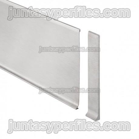 DESIGNBASE-SL-E - Tapón derecho para rodapie inox