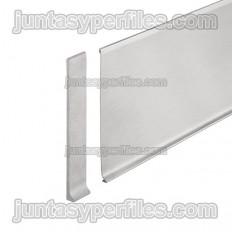 DESIGNBASE-SL-E - Tapón izquierdo para rodapie inox