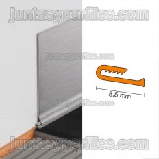 DESIGNBASE-SL-E - Seal for stainless steel skirting boards