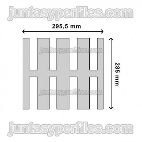 Pletina antideslizante inoxidable 25 mm