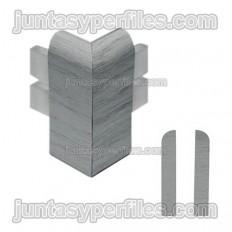 Canto exterior para rodapé em vinil expandido com acabamento em madeira
