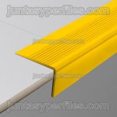 Borde de peldaños en PVC amarillo antideslizante sobrepuesto