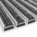 Zerbino tecnico in metallo con profilo in alluminio