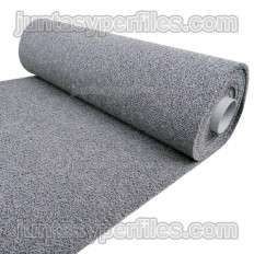 Carpet or doormat with vinyl curl