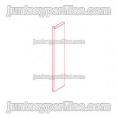 Novorodapie Eclipse - Aluminium-Fußleiste für Gipskartonplatten