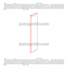 Novorodapie Eclipse - Zócalo de aluminio para placas de yeso y tiras LED