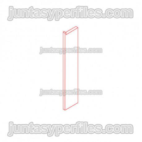 Novorodapie Eclipse - Aluminum skirting for drywall and LED light