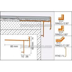 BARA-RAKEG - Vierteaguas de aluminio para lámina DITRA 25