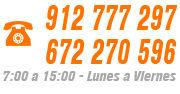 Llámenos al 912 777 297